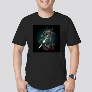Dragon Katana01 Men's Fitted T-Shirt (dark)